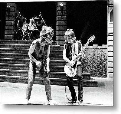 Ozzy Osbourne And Randy Rhoads 1981 Metal Print by Chris Walter