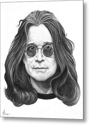 Ozzy Osbourne Metal Print by Murphy Elliott
