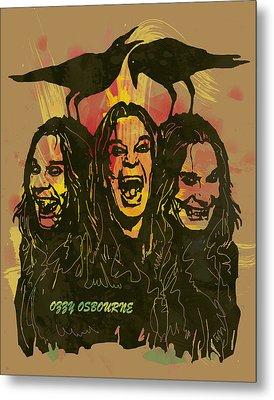 Ozzy Osbourne Pop Stylised Art Poster Metal Print by Kim Wang
