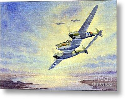 P-38 Lightning Aircraft Metal Print