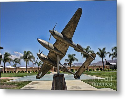 P-38 Memorial March Field Museum Metal Print by Tommy Anderson