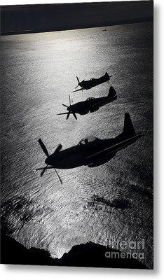P-51 Cavalier Mustang With Supermarine Metal Print by Daniel Karlsson