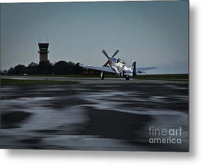 Metal Print featuring the photograph P-51  by Douglas Stucky