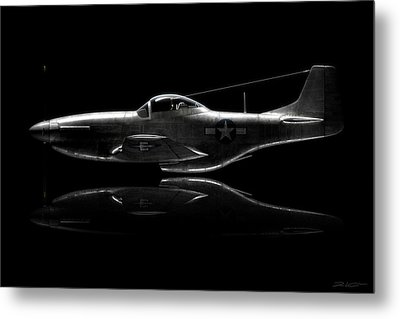 P-51 Mustang Profile Metal Print by David Collins