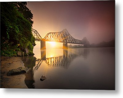 P And Le Ohio River Railroad Bridge Metal Print