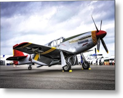 P51-c Mustang In Hdr Metal Print by Michael White