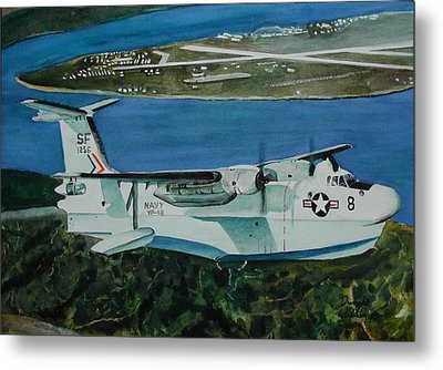 P5m Over North Island Metal Print by Dwight Williams
