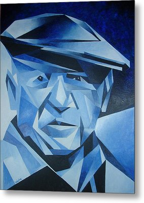 Pablo Picasso The Blue Period Metal Print by Tracey Harrington-Simpson