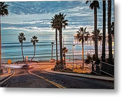 Pacific And 1st Street Metal Print by Ann Patterson