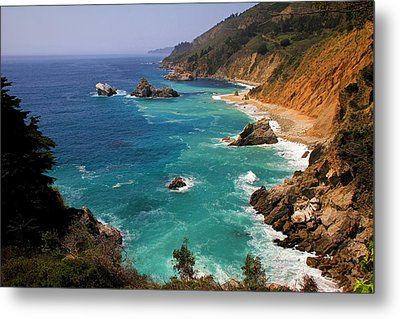 Pacific Coast Blues Metal Print by Donna Kennedy