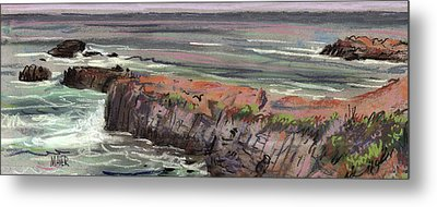 Pacific Coastal Panorama Metal Print by Donald Maier