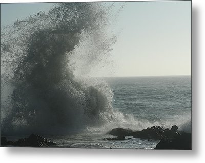 Pacific Crash Metal Print by Laddie Halupa
