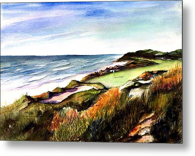 Pacific Dunes Golf Course Metal Print by Marti Green