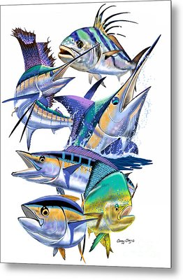 Pacific Gamefish  Metal Print by Carey Chen