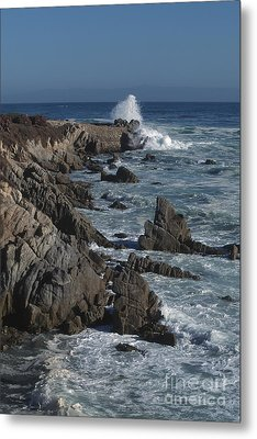 Metal Print featuring the photograph Pacific Grove Seascape by Stan and Anne Foster