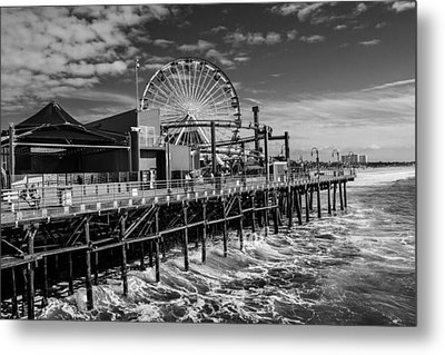 Pacific Park Bw Metal Print