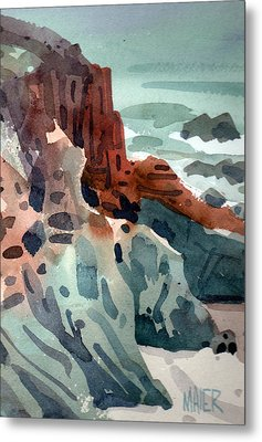 Pacific Shoreline Metal Print