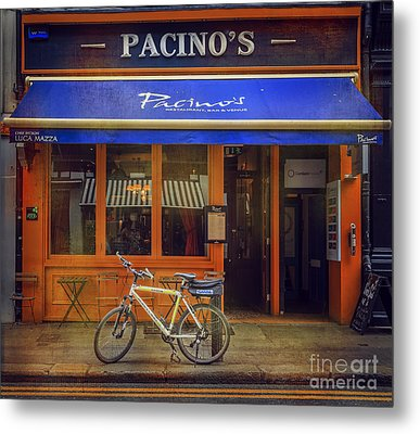 Metal Print featuring the photograph Pacino's Garda Bicycle by Craig J Satterlee