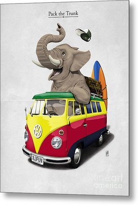 Pack The Trunk Metal Print