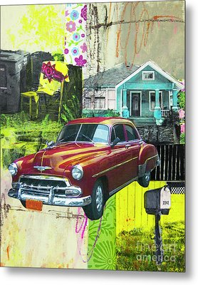 Metal Print featuring the mixed media Packard by Elena Nosyreva