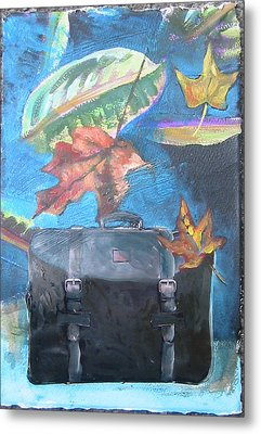 Packed Bag Metal Print by Tilly Strauss