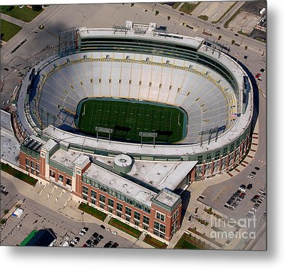 Packers Lambeau Field Metal Print by Bill Lang