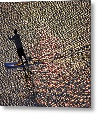 Paddling The Pacific Metal Print