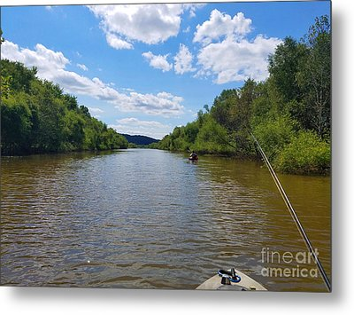 Paddling Up Crooked Creek Metal Print