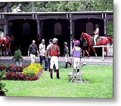 Metal Print featuring the digital art Paddock Painting by  Newwwman