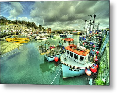 Padstow Colours  Metal Print by Rob Hawkins