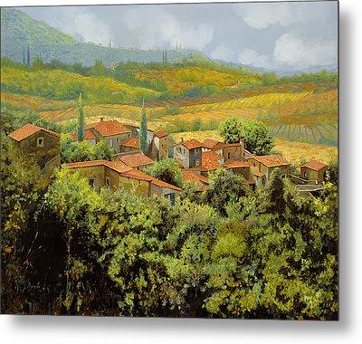 Paesaggio Toscano Metal Print by Guido Borelli
