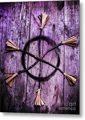 Pagan Or Witchcraft Symbol For A Gathering Metal Print