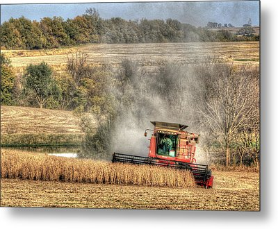 Page County Iowa Soybean Harvest Metal Print