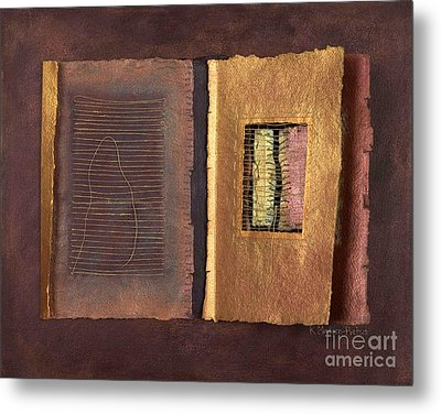 Page Format No 2 Transitional Series  Metal Print by Kerryn Madsen-Pietsch