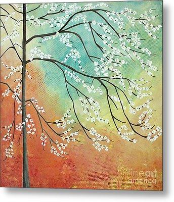 Flowering Dogwood Blossom Joy Metal Print by Barbara McMahon