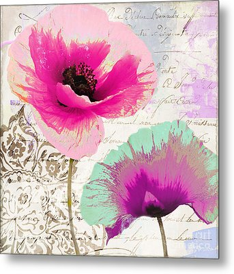 Paint And Poppies II Metal Print