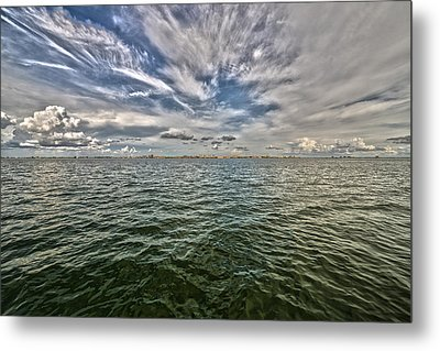Paint Brush Sky - Ft Myers Beach Metal Print by Christopher L Thomley