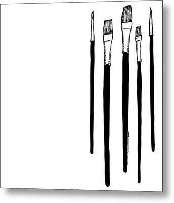 Paint Brushes Metal Print by Karl Addison