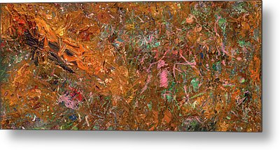 Paint Number 19 Metal Print by James W Johnson