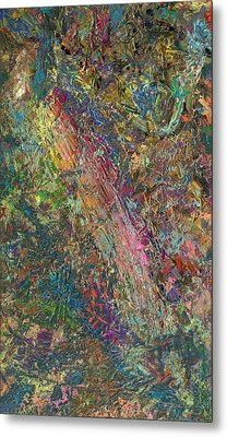 Paint Number 27 Metal Print by James W Johnson