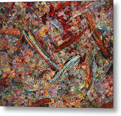 Paint Number 30 Metal Print by James W Johnson