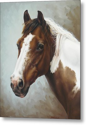 Paint Portrait Metal Print by Margaret Stockdale