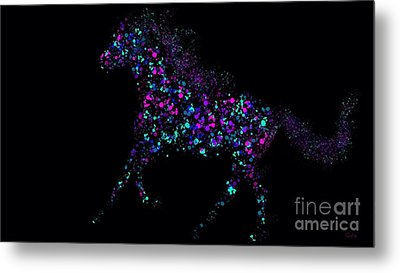 Metal Print featuring the painting Paint Splattered Pony by Nick Gustafson