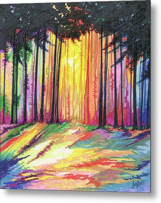 Paint The Forest Metal Print