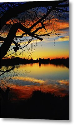 Paint The Sky Metal Print by Saija  Lehtonen
