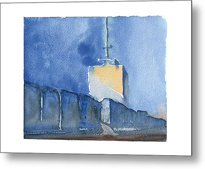 Paint The World...building Metal Print by Meagan Healy