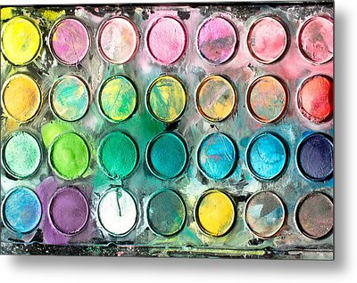 Paint Tray Metal Print