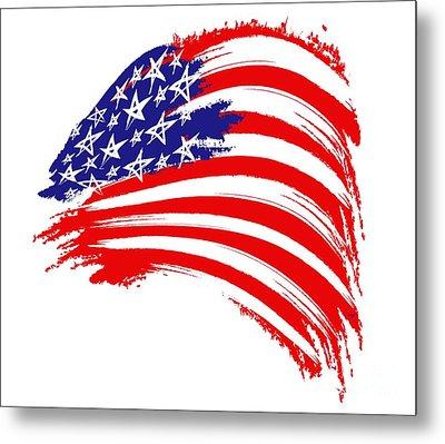 Painted American Flag Metal Print by Stefano Senise