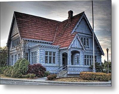 Painted Blue House Metal Print