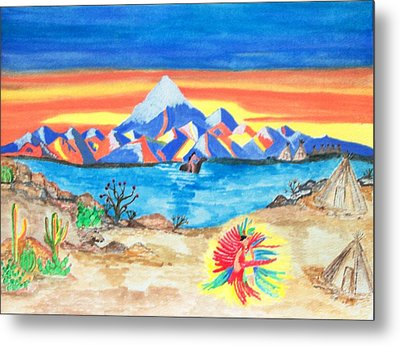 Metal Print featuring the painting Painted Desert              by Connie Valasco